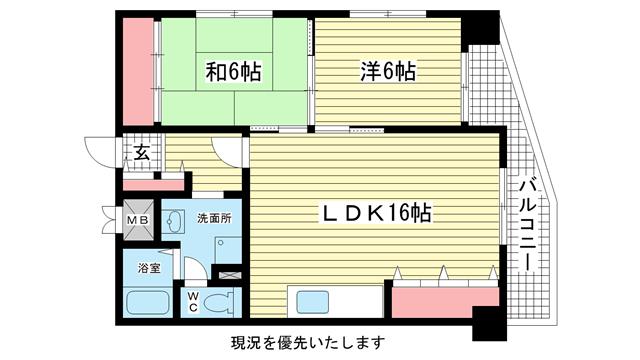物件番号: 1025808985 ワコーレアルテ中山手  神戸市中央区中山手通3丁目 3DK マンション 間取り図