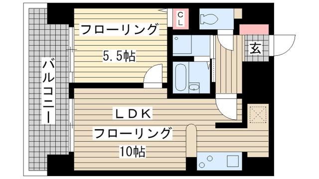 物件番号: 1025811044 リーガル新神戸  神戸市中央区二宮町4丁目 1LDK マンション 間取り図