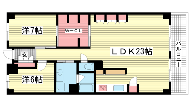 物件番号: 1025819505 北野ダイヤハイツ  神戸市中央区加納町2丁目 2LDK マンション 間取り図