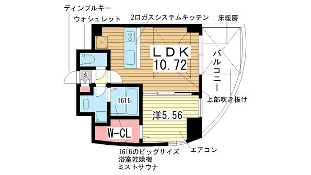 物件番号: 1025821914 ワイズコーポレーションビルディング  神戸市中央区下山手通2丁目 1SLDK マンション 間取り図