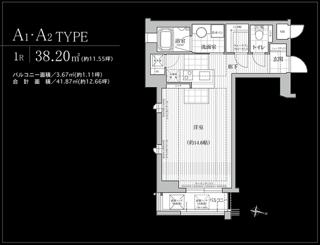 物件番号: 1025824529 KAISEI神戸北野町  神戸市中央区北野町2丁目 1R マンション 間取り図