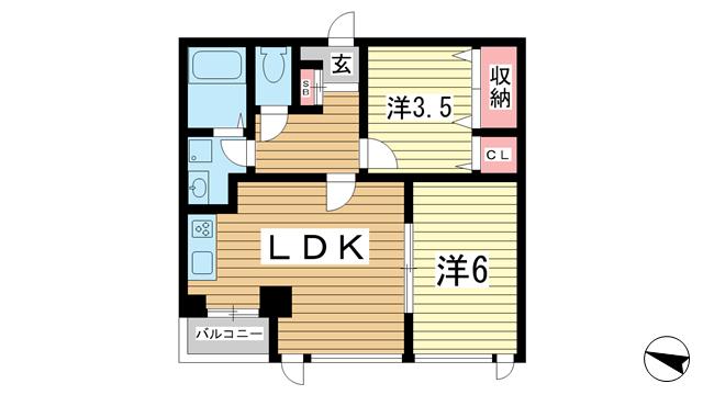 物件番号: 1025844417 アルカディア三宮  神戸市中央区小野柄通3丁目 1SLDK マンション 間取り図