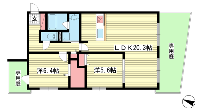 物件番号: 1025851261 リブレ御影  神戸市東灘区御影郡家2丁目 1SLDK マンション 間取り図