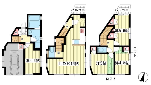 物件番号: 1025859638 DRホーム中島通  神戸市中央区中島通2丁目 4LDK 貸家 間取り図