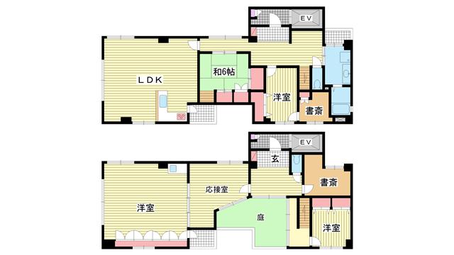 物件番号: 1025867565 アトリエYAYOI  神戸市中央区元町通5丁目 5SLDK マンション 間取り図