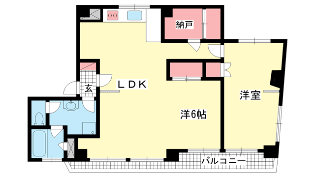 物件番号: 1025871712 甲南アセットトーア・ハイツ  神戸市中央区山本通3丁目 2LDK マンション 間取り図