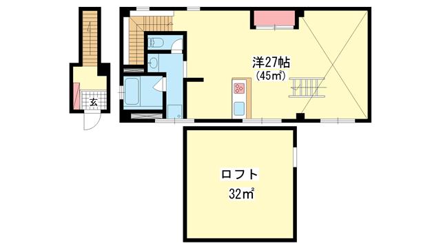物件番号: 1025872076 L'ETOILE  神戸市中央区中山手通3丁目 1LDK マンション 間取り図