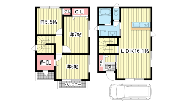 物件番号: 1025872150 MONTE DAFT (モンテダフト)  神戸市中央区中山手通7丁目 3SLDK 貸家 間取り図