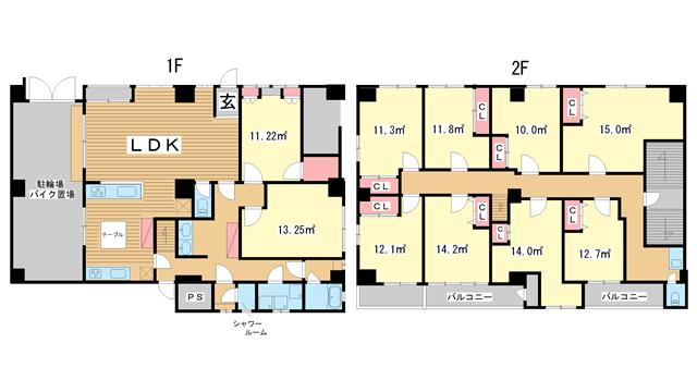 物件番号: 1025872420 Anker  神戸市兵庫区永沢町2丁目 10LDK マンション 間取り図