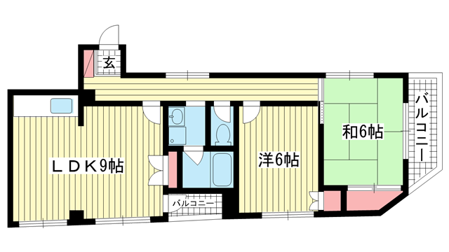 物件番号: 1025873311 エントピアシミズ  神戸市灘区泉通4丁目 2LDK マンション 間取り図