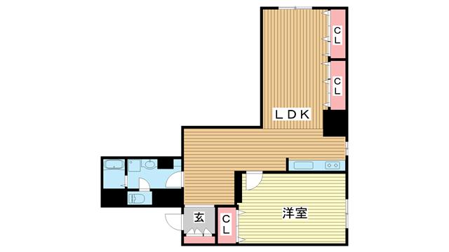 物件番号: 1025875085 北野タウンハウス  神戸市中央区山本通3丁目 3LDK マンション 間取り図