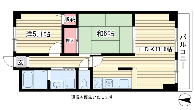 物件番号: 1025875341 ベルベデール甲南  神戸市東灘区甲南町5丁目 2LDK マンション 間取り図