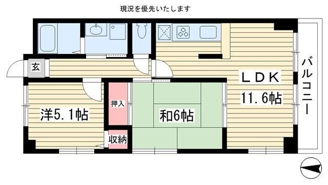 物件番号: 1025875343 ベルベデール甲南  神戸市東灘区甲南町5丁目 2LDK マンション 間取り図