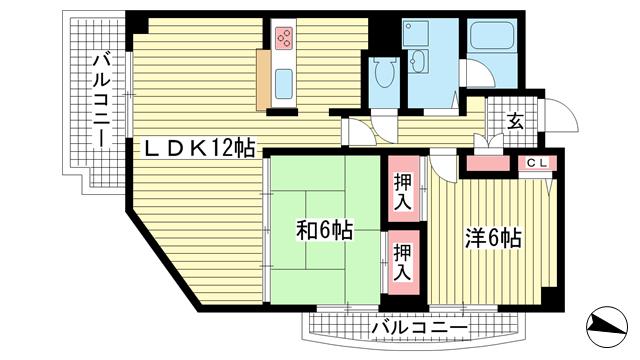 物件番号: 1025875422 アイビーハイツ  神戸市東灘区西岡本1丁目 3LDK マンション 間取り図