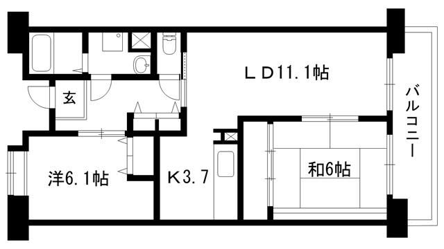 物件番号: 1025875602 ☆ルゼフィール井吹台1号棟(UR)  神戸市西区井吹台西町2丁目 1SLDK マンション 間取り図