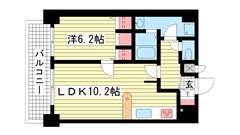 プレサンス神戸駅前 1002の間取