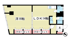 湊川センタービルB棟 314の間取