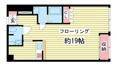 シルフィード・ドゥ花隈 203の間取