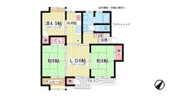 北須磨マンションA-3 104の間取