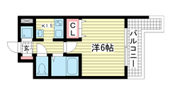 ウォームスヴィル神戸元町JP 204の間取
