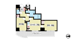 アスタ新長田タワーズコート6番館ノーススクェア 1401の間取