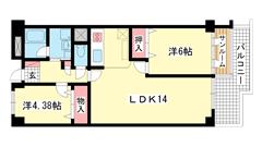 ジークレフ赤坂 210の間取