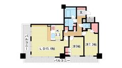 ライオンズタワー神戸旧居留地 3Fの間取