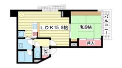 ライオンズマンション神戸元町通 701の間取