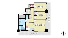 ライオンズタワー神戸旧居留地 1501の間取