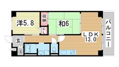 加藤マンション神戸 602の間取