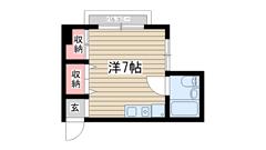 メイナー新神戸 206の間取