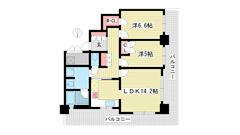 ライオンズタワー神戸旧居留地 1401の間取