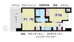エステムプラザ神戸西Ⅴミラージュ B'203の間取
