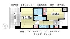 エステムプラザ神戸西Ⅴミラージュ B'403の間取