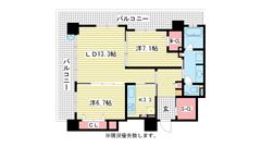 エルグレース神戸三宮タワーステージ 2507の間取
