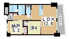 パインコート・平磯 C-302の間取