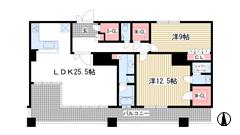 ライオンズタワー神戸旧居留地 2702の間取