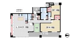 ルネ神戸旧居留地109番館 1303の間取