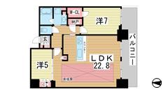 シティタワー神戸三宮 4005の間取