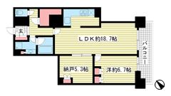 アーバンライフ神戸三宮ザ・タワー 14Fの間取