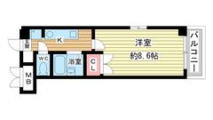 アートプラザ神戸西 1001の間取