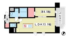 新神戸Vita p807の間取