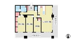 ライオンズタワー神戸旧居留地 22Fの間取