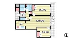 D'グラフォート神戸三宮タワー 21Fの間取