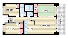 ☆HAT神戸・脇の浜17番館(UR) 1104の間取