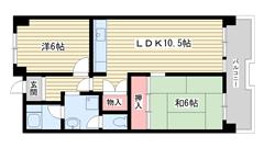 ☆ポートアイランド55号棟(UR) 305の間取