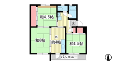 ☆鈴蘭台第二 12号棟(UR) 503の間取