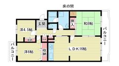 ☆名谷公園前 368号棟(UR) 503の間取