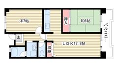 ☆ポートアイランド51号棟(UR) 203の間取