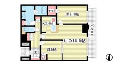 ザ・パークハウス神戸ハーバーランドタワー 24Fの間取